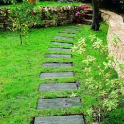 Wooden garden path design green ideas 20 1.jpg