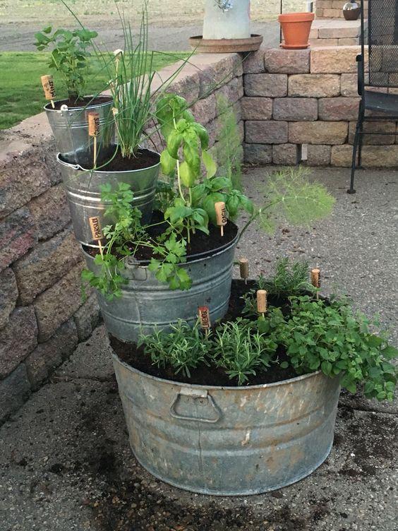 gartendeko selber machen eine zinkwanne bepflanzen
