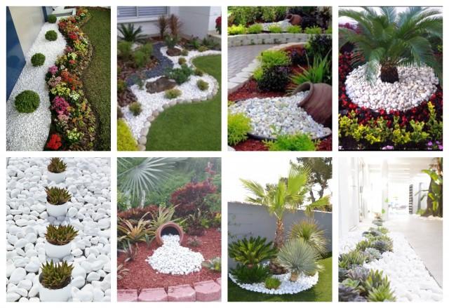 Gartengestaltung mit weißen Steinen und Kies :) - nettetipps.de