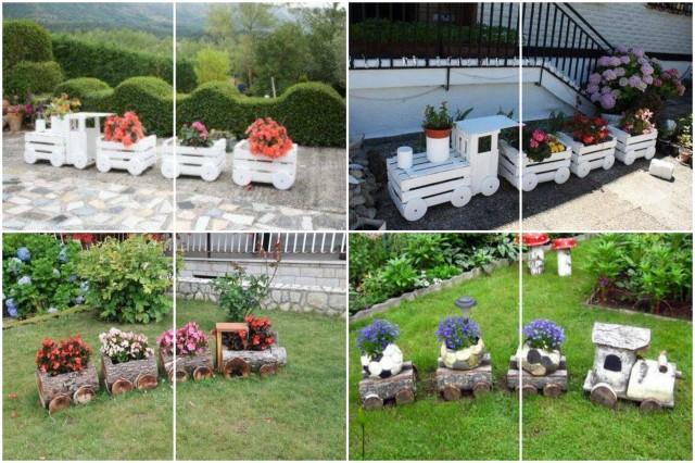 DIY: Deko Zug Aus Obstkisten Für Garten Selber Bauen :)