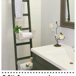 Diy bathroom storage ladder.jpg