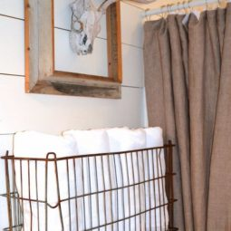 Vintage metal basket towel rack.jpg