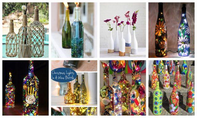 25 festliche projekte aus alten weinflaschen : nettetipps.de