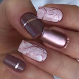 Ice and marble matte color nails @ana0m.jpg