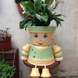 Nette Und Lustige Garten Figuren Aus Blumentöpfen Nettetippsde
