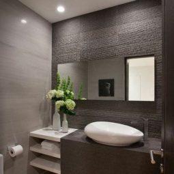 Modernes Badezimmer-Design in natürlichen Farbtönen - nettetipps.de