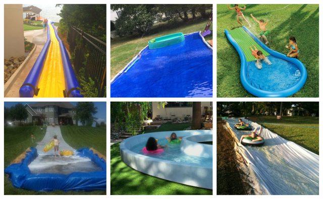 10 Perfekte Sommerideen Für Kinder Wasserrutsche Im Garten