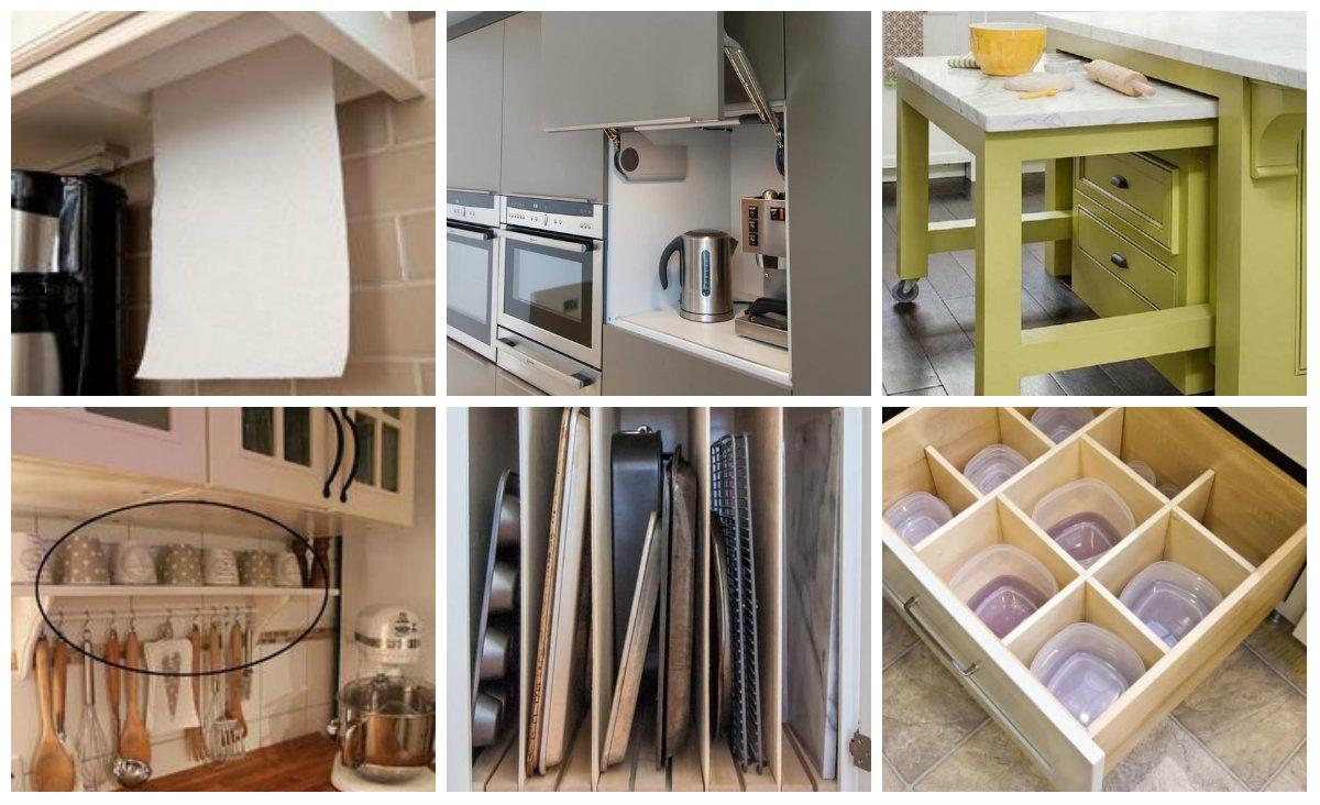 die besten platzsparenden aufbewahrung ideen f r die k che. Black Bedroom Furniture Sets. Home Design Ideas