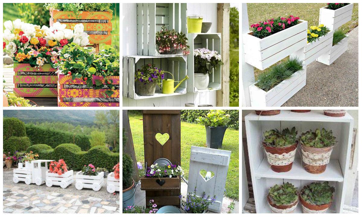 Nette DIY Garten Dekoration Mit Holzkisten