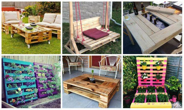 Praktische und kreative Ideen mit Holz-Paletten für Garten ...