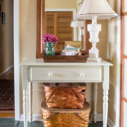 Small entry with a writing desk for a table. _ postcards from the ridge.jpg