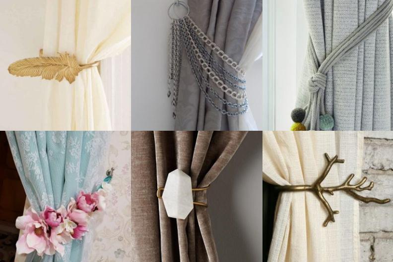 raffhalter und dekospangen als ein interessantes dekoelement. Black Bedroom Furniture Sets. Home Design Ideas