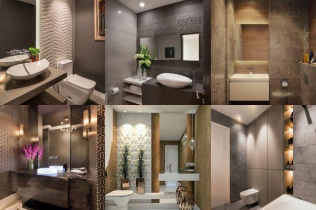 Modernes Badezimmer Design In Natürlichen Farbtönen