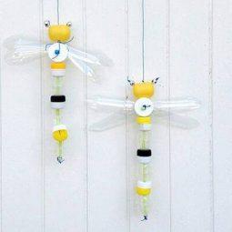 Artesanato com garrafa pet abelha.jpg