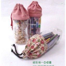 Artesanato com garrafa pet com tecido e1504199199938.jpg