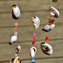 Seaside windchime craft from shells stones and pony beads.jpg