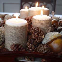 Burlap pinecone fall wedding centerpiece.jpg