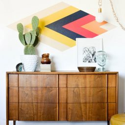 Diy retro diamond focal wall.jpg
