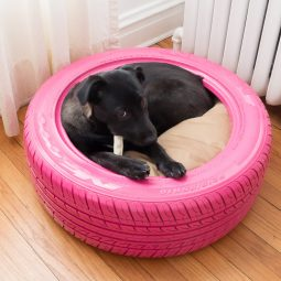 Dog bed from a recycled tire.jpg