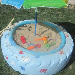 Make a sandbox with a tire.jpg