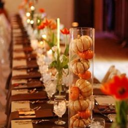 Mini pumpkins fall wedding centerpiece.jpg