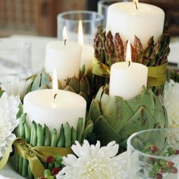 Vegetable candle holders fall wedding centerpiece.jpg