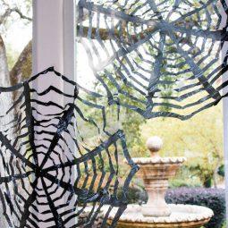 16 awesome homemade halloween decorations easy trash bag spider webs.jpg