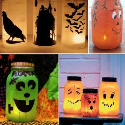 16 easy but awesome homemade halloween decorations jar lights.jpg