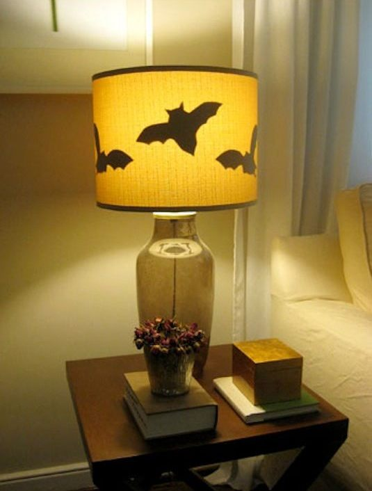 16 easy but awesome homemade halloween decorations lamp shade.jpg