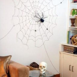 16 easy but awesome homemade halloween decorations spider web.jpg