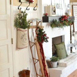Stunning christmas decor ideas with farmhouse style for living room 06.jpg