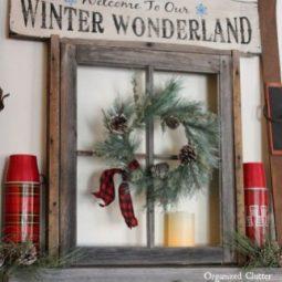 Stunning christmas decor ideas with farmhouse style for living room 20.jpg