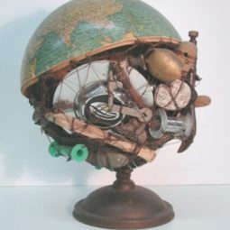 40 useful globe art projects to restore old globes 19.jpg