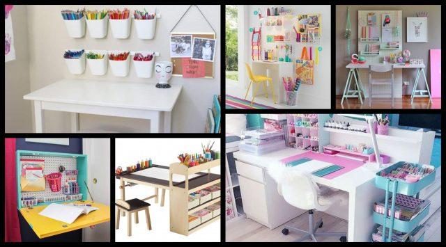 Kinderzimmer Hacks - 20 Schreibtisch Organisieren Ideen ...