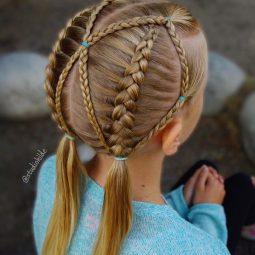 10 Hübsche Kreative Frisuren Für Mädchen Nettetippsde