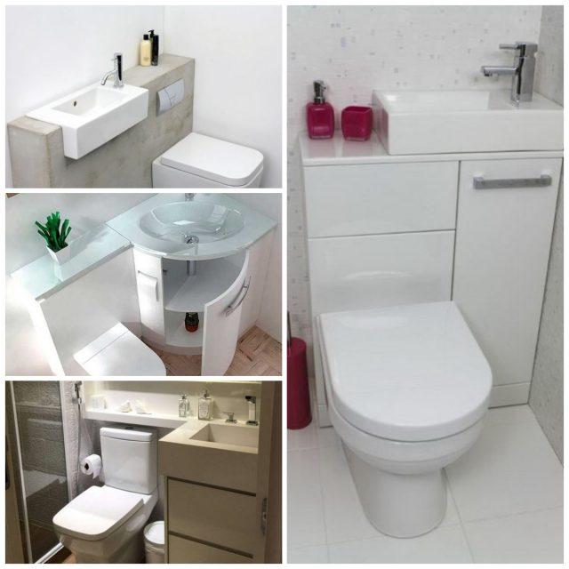 10+ praktische Toilette Ideen für ein kleines Badezimmer ...