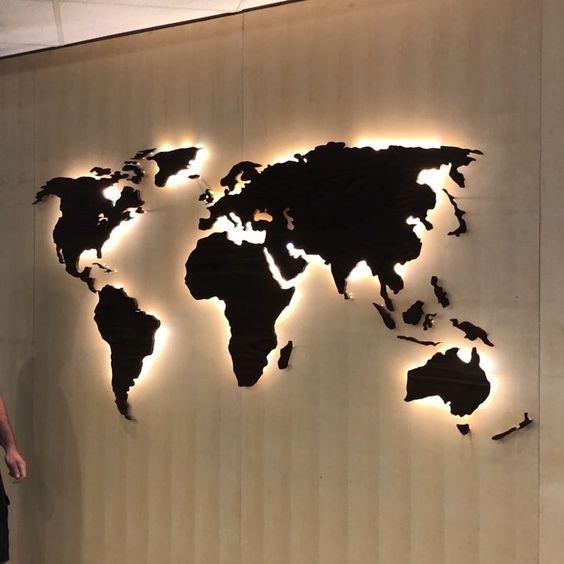 Kreative Wanddeko Ideen Mit Landkarte Nettetipps De