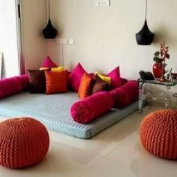 32 ideas for living room floor cushions colour.jpg