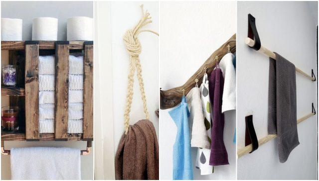 Handtuchhalter fürs Badezimmer selberbauen: 15 kreative ...