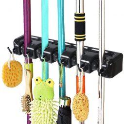 Besenhalterung, Gerätehalter Ordnungsleiste Wandhalterung Ordnungsleiste Wandhalter für Mopp, Besen und Gartenwerkzeug
