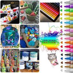 Acrylfarben, Acrylstifte, Acrylstifte wasserfest, Acrylstifte Steine bemalen, Acrylstifte basteln, Acrylstifte malen, Acrylstifte kreativ, Acrylstifte bunt, Acrylstifte Kemarik, Acrylstifte Glas bemalen