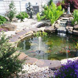Gartenbrunnen Kaskadenbrunnen Wasserspiel Solarbrunnen für Garten Balkon Terrasse