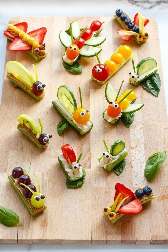 neue leckere snacks aus obst und gemüse für kinder