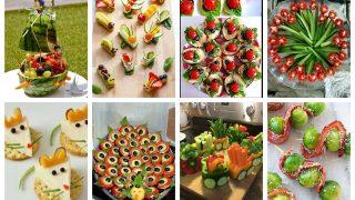 Snacks aus Obst und Gemüse für Kinder