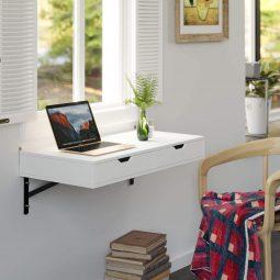 Klappbarer Arbeitstisch für kleine Räumlichkeiten