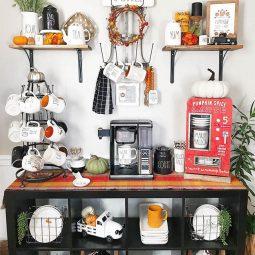 Fall autumn themed coffee corner.jpg