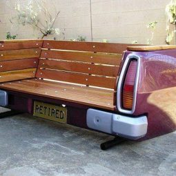 Recycled automobile bench.jpg