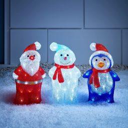 Leuchtende Weihnachtsdeko für draußen