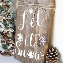 Diy woodland sign. let it snow winter sign by blooming homestead for live laugh rowe.jpg