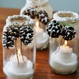 Snowy pinecone candle jars pin worthy.jpg